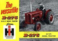 Vintage McCormick International B-275 Tractor Poster Brochure Art (A3)