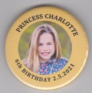 Princess Charlotte of Cambridge is 6! Birthday royal souvenir fridge magnet 2021