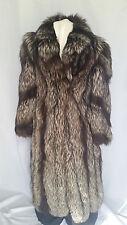 Full Length Silver Fox Woman Mens Fur Coat Size 12-14 Large Canada