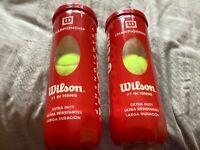 Wilson championship tennis balls 2x 3 balls.Brand New unused  (tm)