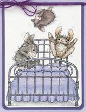 Bouncing Bunnies HAPPY HOPPERS Wood Mounted Rubber Stamp STAMPENDOUS, NEW- HHR02