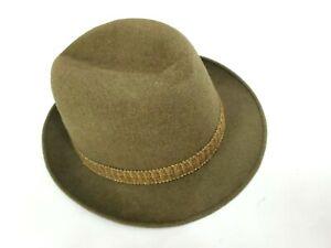 Vtg P&C HABIG VIENNA Hatters FEDORA Ventilo Velour Hat for Brooks Brothers 7 1/8