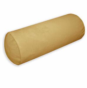 Mf33g Raw Silk Soft Microfiber Velvet Bolster CASE Yoga Neck Roll COVER Size