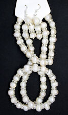 Ladies Jewelry Set Natural Freshwater White Pearl Bridal Pair Earring Necklace
