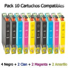 10x tinta cartuchos t1281 t1282 t1283 t1284 Non Oem Epson cartucho de impresora