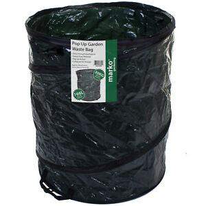 166L POP UP GARDEN WASTE BAG STRONG REUSABLE DURABLE GARDENING WEEDING BIN TRASH