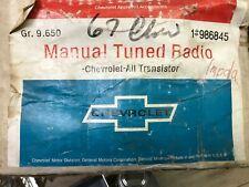1967 67 CHEVROLET IMPALA BEL AIR BISCAYNE NOS GM RADIO & SPEAKER KIT 986845