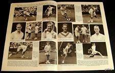 Wimbledon 1956 First Week Pictorial Lew Hoad & Men Competitors Tennis Tour