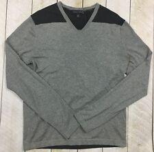 BANANA REPUBLIC Men's Gray Silk Blend V Neck Sweater Size Medium #K