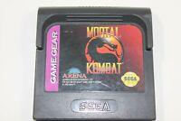 Mortal Kombat Sega Game Gear Cartridge
