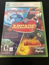 New PopCap Pop Cap Arcade Vol 1 Bejeweled 2 Feeding Frenzy Zuma Astro XBOX 360