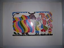 FRANCISCO AMARO ( Art Populaire du Brésil ) Xilogravure originale , signée -1990