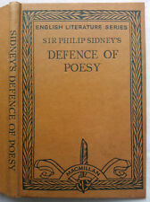 SIR PHILIP SIDNEY'S DEFENCE OF POESY.H/B 1968.DOROTHY M MACARDLE.ENGLISH SERIES