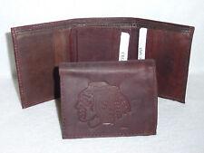 CHICAGO BLACKHAWKS   Leather TriFold Wallet     NEW     dkb z+