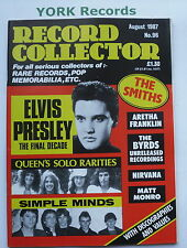 RECORD COLLECTOR MAGAZINE - Issue 96 August 1987 -  Elvis Presley / Queen