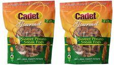 Cadet Gourmet Sweet Potato Steak Fries 4lb Bag Chews Natural Dog Treats #01387x2