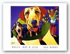 DOG ART PRINT Molly Moe and Jack Ron Burns