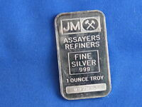 Johnson Matthey .999 Silver 1 Oz Bar Ingot B4444