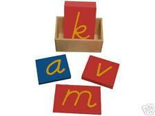 New Montessori D'Nelian Style Sandpaper Letters