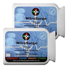 NITRO Surge ossido nitrico più puro Bodybuilding 180 capsules-pumps adulto