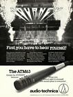 vtg 80s JOURNEY AUDIO TECHNICA MAGAZINE AD PINUP Microphone ATM63 Band Live