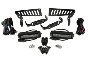 """For Jeep JL 2018-19 Stage Series 6"""" Cowl LED Kit White Driving Diode Dynamics"""