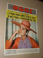 OGGI=1966/9=MODA ITALIANA ROSANNA SCHIAFFINO RAFFAELLA CARRA EVI MARANDI ECT ECT