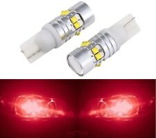LED Light 50W 168 Red Two Bulbs Front Side Marker Parking Show Use Lamp JDM T10