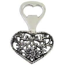 Antique Look Metal Bottle Opener - Heart Design