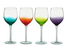 Anton Studio Designs Fizz Wine Glasses, Set of 4 Assorted Colours - 600ml