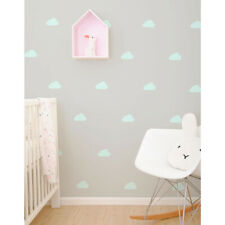 Kids Mint Clouds Vinyl Wall Stickers