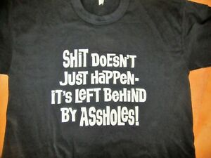 Vintage Tee Swing S*** HAPPENS T-Shirt XL