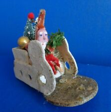 Vintage Santa & Sleigh Cardboard Candy Container- Japan- Mid Century
