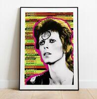 David Bowie Art Print, Bowie Pop Art, Playboy Print, Wall Art, Poster