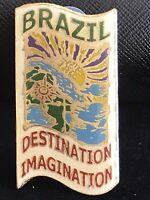 Vintage Brazil Imagination Destination Souvenir  Travel Lapel Pin