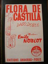 Partition Flora Castilla Paso doble Emile Noblot