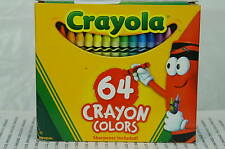 CRAYOLA BOX OF 64 CRAYONS NEW IN BOX~64 MACARONI AND CHEESE COLOR~FREE SHIP US~