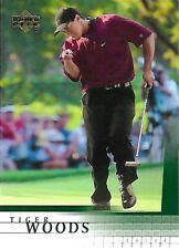 2001 Upper Deck UD Golf  TIGER WOODS ROOKIE card RC #1