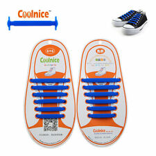 Colored No Tie Elastic Shoe Laces 100 Silicone Trainers Adult Kids Shoelaces Red 1pair