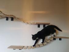 Wandbrücke für Katzen ca 120cm inkl farbigen Winkel Katze Kratzbaum Katzenbrücke