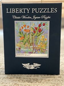 """Liberty Classic wooden jigsaw puzzles """"Spring Garden"""" 466 pieces complete"""