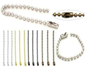Ball Beaded Metal Chain With Connector Clasp Mobile Phone Cord Tag KeyChain
