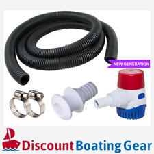 RULE 360GPH Submersible Marine Bilge Pump with Hose & Fittings