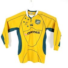 Authentic Wallabies Team Replica Rugby Union Australia Long Sleeve Shirt Size M