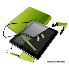 "Hype 10.1"" iPad Tablet Accessory Kit With Case, Stand, Stylus, Earphones, Cloth"