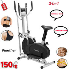 Exercise Bike & Cross Trainer Home Gym Cycling Cardio Fitness Workout Machine UK
