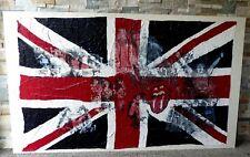 tableau contemporain S. Petitpas peinture toile 162cm  Les Stones Jagger