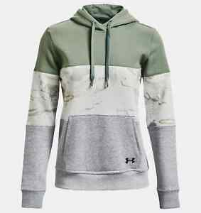 NWT WOMEN'S UNDER ARMOUR UA RIVAL FLEECE BLOCKED HOODIE.SMALL.BRAND NEW 2021.