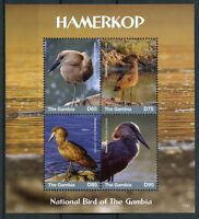 Gambia 2017 MNH Hamerkop National Bird 4v M/S Birds Stamps