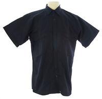 VERTX Men's Navy SS Coldblack Hidden Zip Uniform Shirt #SAM-2828SN $60 NEW